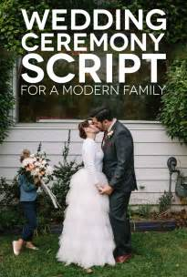 how to officiate a wedding ceremony a sle wedding ceremony script for a modern family