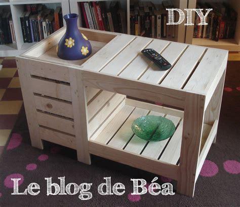 diy table basse en bois de palette avec coffre de rangement le de b 233 a bricolage