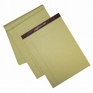 left ruled canary letter size legal pads With letter size legal pads