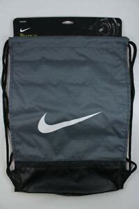 nike brasilia gymsack gray black white drawstring bag