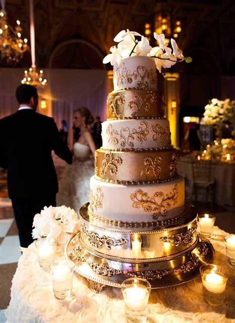 gold wedding white gold wedding cakes  weddbook