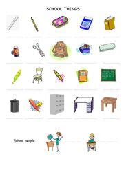 school things worksheet by zazaesl