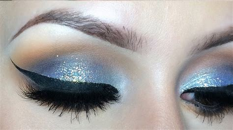 blue glitter eyeshadow  tutorial youtube