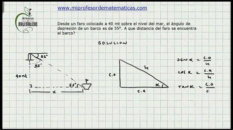 Ejercicio Solución De Triángulos  Trigonometria Mi