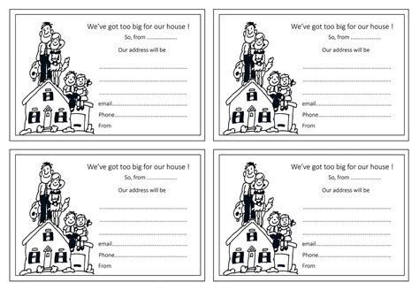 Moving Home Cards Template by Moving House Change Of Address Notice Blank Cards Template 49p