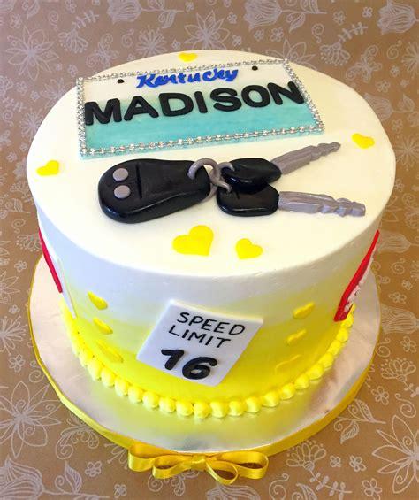 Cut strawberries, blueberries, raspberries, or blackberries make this cake naturally beautiful. Drivers License Sweet 16 Cake in 2019   Sweet 16 birthday cake, Birthday cakes for teens, 16 ...