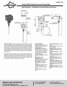 Series Crf2 Capacitive Level Transmitter Specifications