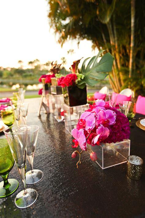 modern pink  black wedding ideas   detail