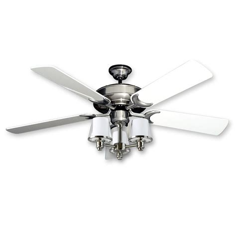 custom brushed steel stainless steel ceilng fan light