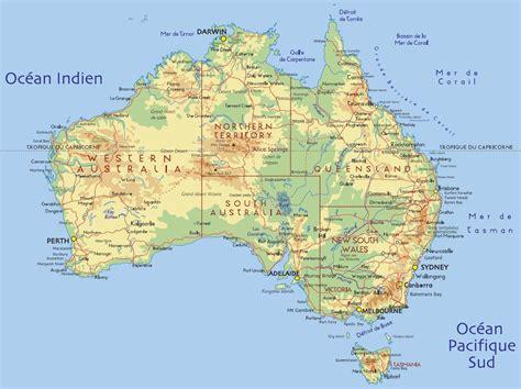 Carte Geographique Du Monde Australie by Carte Australie G 233 Ographie Arts Et Voyages