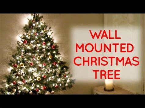 diy wall mounted christmas tree youtube