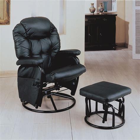 black swivel rocker recliner with ottoman 13872983