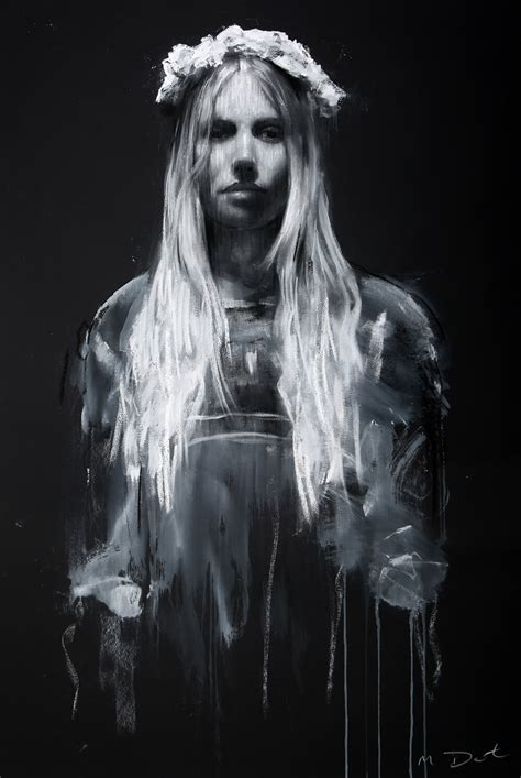 Mark Demsteader Ophelia Study on Black for sale at ...