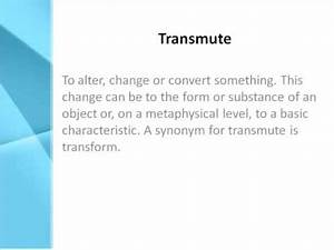 Transmute Definition - What Does Transmute Mean? - YouTube