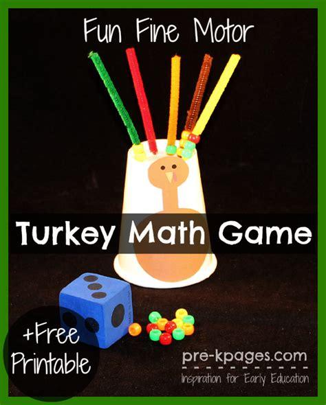 motor turkey math 296   fine motor turkey game