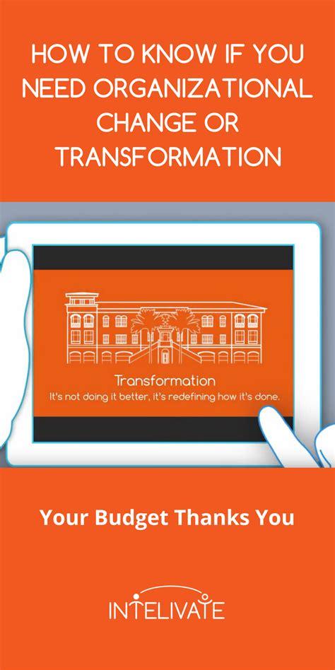 organizational change transformation  differences