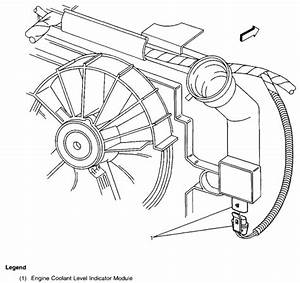 Service Manual  1968 Pontiac Grand Prix Removing Coolant Level Sensor