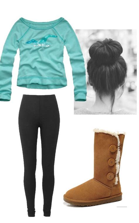 Lazy day outfit (lol except 4 the hair I really donu0026#39;t like buns + Iu0026#39;m not very good at them... I ...