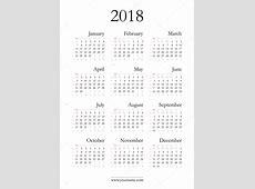 Elegante calendario 2018 — Vector de stock © olania #96318718