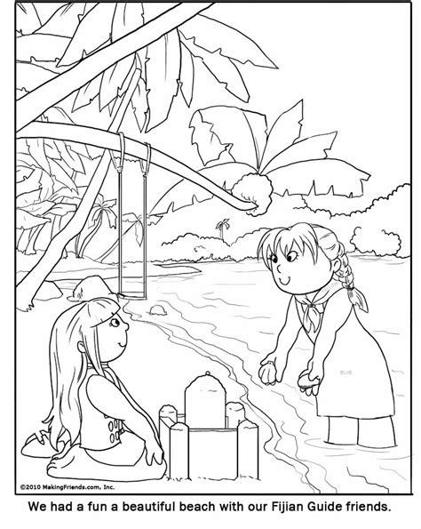 fijian girl guide coloring page