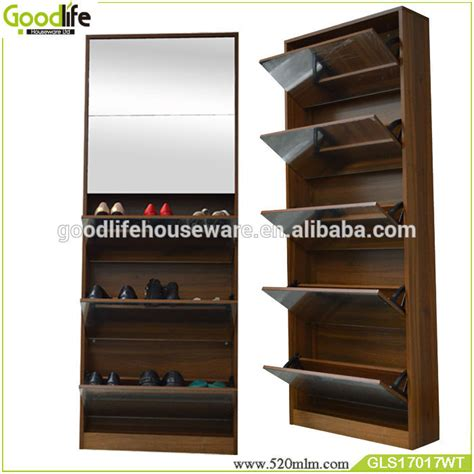 vertical shoe rack sliding door shoe cabinet vertical shoe rack gls17017