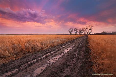 Prairie And Road At Boyer Chute Nwr Nebraska Photograph