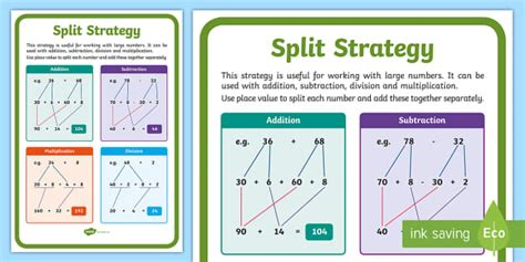 split strategy display poster maths australia australian