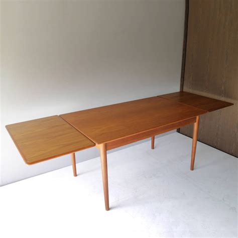two leaf dining table danish teak dining room table with two leaves for sale at