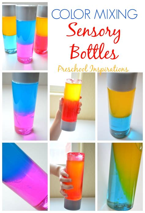 colors and bottles how to make a color mixing sensory bottle preschool