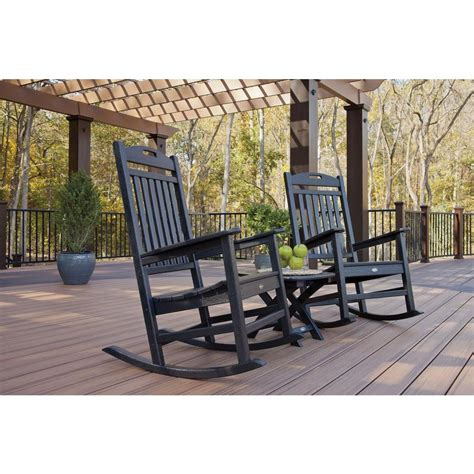 trex deck rocking chairs trex outdoor furniture yacht club classic white patio