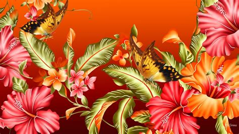 Use them in commercial designs under lifetime, perpetual & worldwide rights. Flowers and Butterflies HD Wallpaper   Background Image   1920x1080   ID:777936 - Wallpaper Abyss