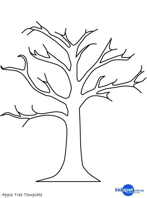 Kleurplaat Herfstboom by Sjabloon Boom Herfst Knutselen Tree Crafts