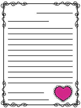 valentines day friendly letter templates freebie