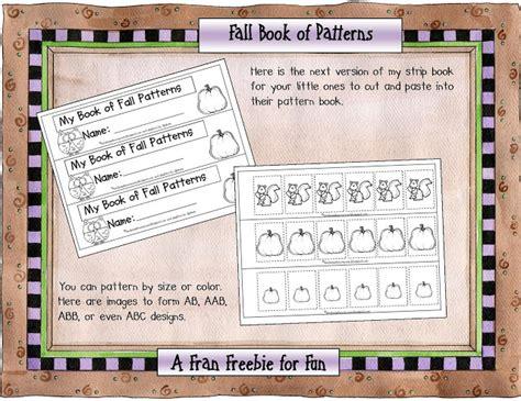 preschool books about patterns kindergarten crayons fran s freebie for fall 588