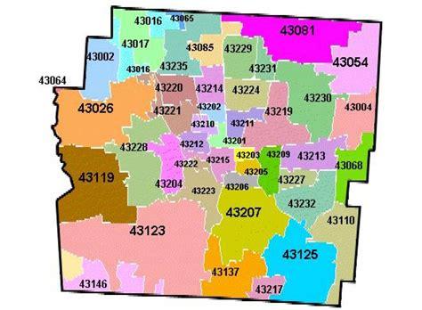 Columbus Zip Code Map Columbus Oh Zip Code Map Ohio Usa