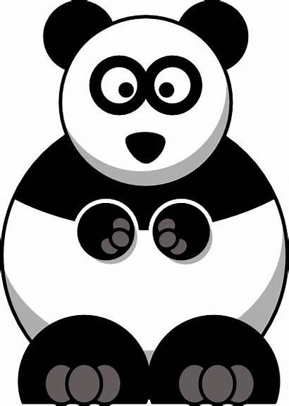 Cartoon Panda Clip Clipart Studiofibonacci Vector Clker