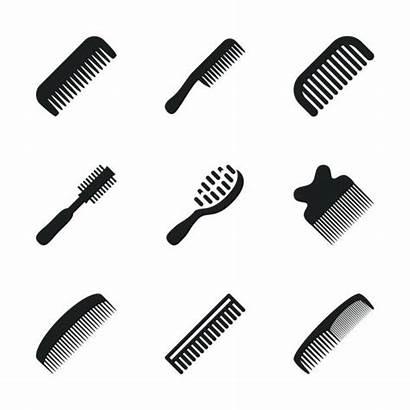 Comb Vector Clip Hair Illustrations Brush Dryer
