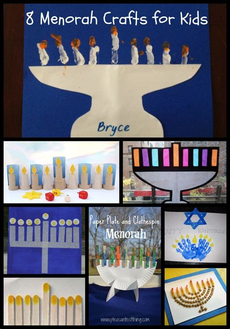 chanukah crafts  kids  menorahs  potluck family