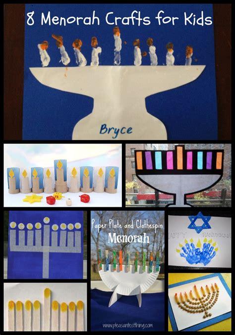 chanukah crafts  kids  menorahs  potluck family