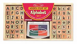 amazoncom melissa doug deluxe alphabet stamp set With letter ink stamp kit