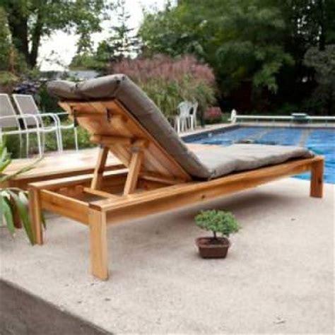 wood diy outdoor chaise lounge pdf plans