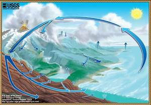 2 Different Diagrams Of The Water Cycle Without Text To