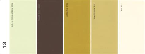martha stewart paint 5 color palette card 13