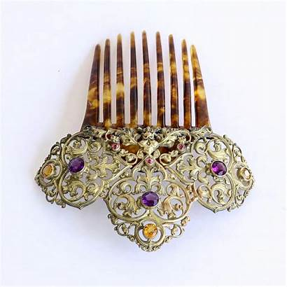 Jeweled Comb Hair 1890 Circa Jewelry Lady