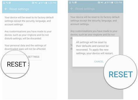 reset network settings android how to return settings to default on the galaxy s7