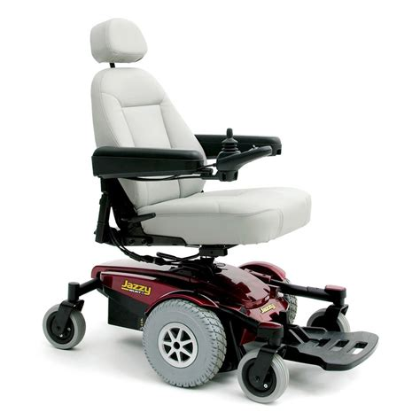 red pride jazzy select 6 electric power chair with new
