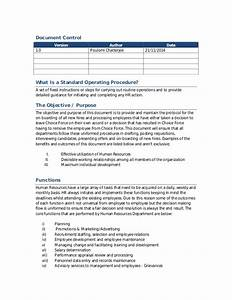 hr standard operating procedure With hr sop template