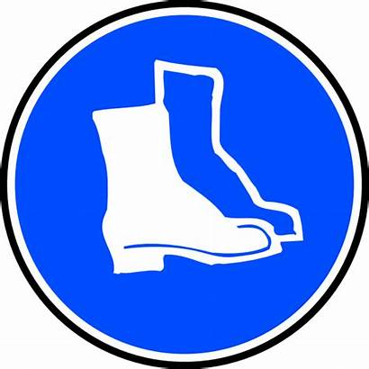 Protection Clip Boots Feet Mandatory Clipart Svg