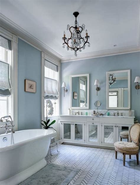 Spa Blue Bathroom by Skylight From F B Paint Colors Bathroom White Master