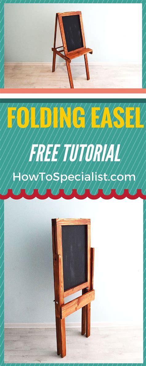 build  folding kids chalkboard easel furniture